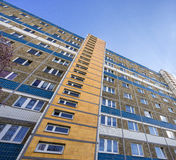 用预制混凝土平板做的大厦 免版税库存照片