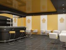 用餐公共空间的结构建筑 库存图片