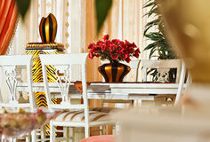 用餐内部现代部分空间样式的艺术装&# 图库摄影