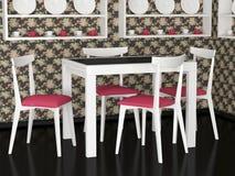 用餐内部空间葡萄酒的设计 图库摄影