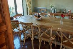 用餐内部空间的美好的设计 免版税图库摄影