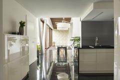 用餐厨房空间视图 库存图片