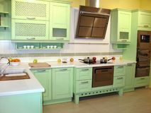 用餐厨房空间 库存图片