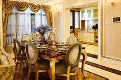 用餐厨房豪华空间 免版税库存照片