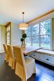 用餐厨房豪华rom表的早餐 免版税图库摄影
