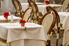 用餐在意大利的Al壁画 免版税图库摄影