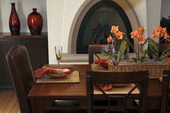用餐家庭豪华空间 免版税库存图片