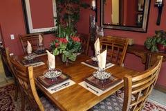 用餐家庭豪华空间 免版税库存照片