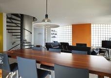 用餐房子现代空间 免版税库存照片