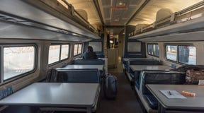 用餐推车的美国国家铁路公司 免版税库存照片