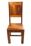 用餐柚木树的椅子 图库摄影