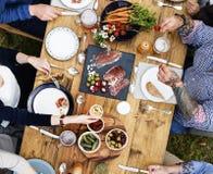 用餐概念的人 图库摄影