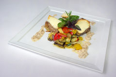用餐细致的膳食牌照 免版税库存图片