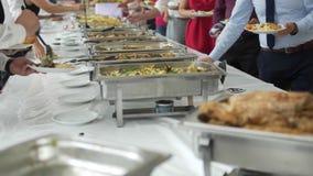 用餐食物庆祝党概念的烹调烹饪自助餐晚餐承办酒席 影视素材