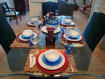 用餐餐位餐具 库存图片