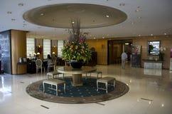 用餐餐馆的旅馆 免版税库存照片