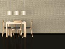 用餐高雅内部现代空间的设计 库存照片