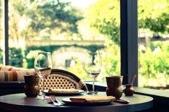 用餐经验在纳帕谷 库存图片