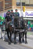 用马拉的支架在圣帕特里克` s天,渥太华,加拿大 免版税库存图片