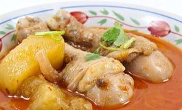 用鸡做的Massaman咖喱 免版税库存图片