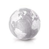 用水泥涂地球3D例证北部和南美地图 库存图片