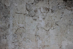 用水泥涂有镇压和老油漆纹理的墙壁 免版税库存图片