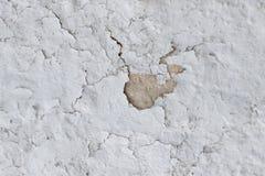 用水泥涂有镇压的墙壁,并且疏松油漆肮脏的纹理片断  免版税库存图片
