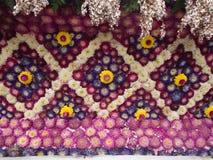 用紫色白苋装饰 免版税库存照片