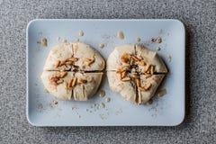 用hummus和鸡豆做的亚美尼亚开胃菜题目或Topik meze 免版税库存照片
