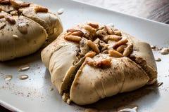 用hummus和鸡豆做的亚美尼亚开胃菜题目或Topik meze 免版税图库摄影