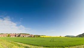 田园诗农村风景, Cotswolds英国 库存图片