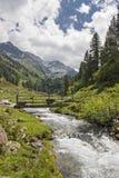 田园诗在Stubai阿尔卑斯 免版税库存照片