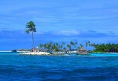 田园诗海岛-天堂在马尔代夫 库存图片