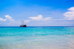 田园诗热带风景, Similan海岛,安达曼 免版税库存图片