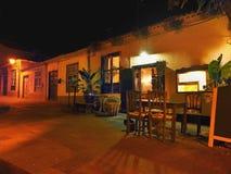 田园诗路在拉帕尔玛岛的晚上 库存照片