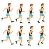 田径服动画框架的,魍魉序列传染媒介例证连续运动人 库存照片