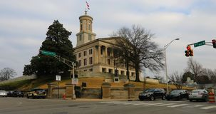 田纳西州议会大厦大厦场面在纳稀威 免版税库存照片