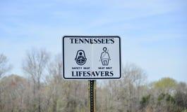田纳西` s救护设备标志 库存图片