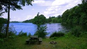 由一个湖的看法在菲英岛,丹麦 免版税库存图片