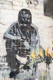 由一位未知的艺术家的街道艺术在Collingwood,墨尔本 图库摄影