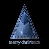 由与孔的三角做的简单的圣诞树 库存照片