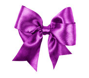 由丝绸做的紫色弓 库存照片