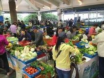 由中央码头,香港的菜市场 图库摄影