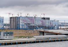 由乘客的新的公寓在俄罗斯端起 免版税库存照片