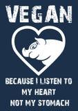 由于我听我的心脏没有我的胃 免版税库存图片