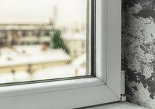 由于湿气的损伤在房子里 免版税库存照片