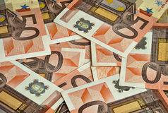 由五十欧元的钞票 库存图片