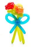 由五颜六色的气球做的图 图库摄影