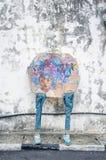 由位于乔治城,槟榔岛的地方艺术家的街道艺术 库存照片