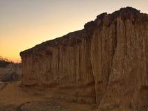 由侵蚀地质的大峡谷森林公园自然雕塑地标 库存图片